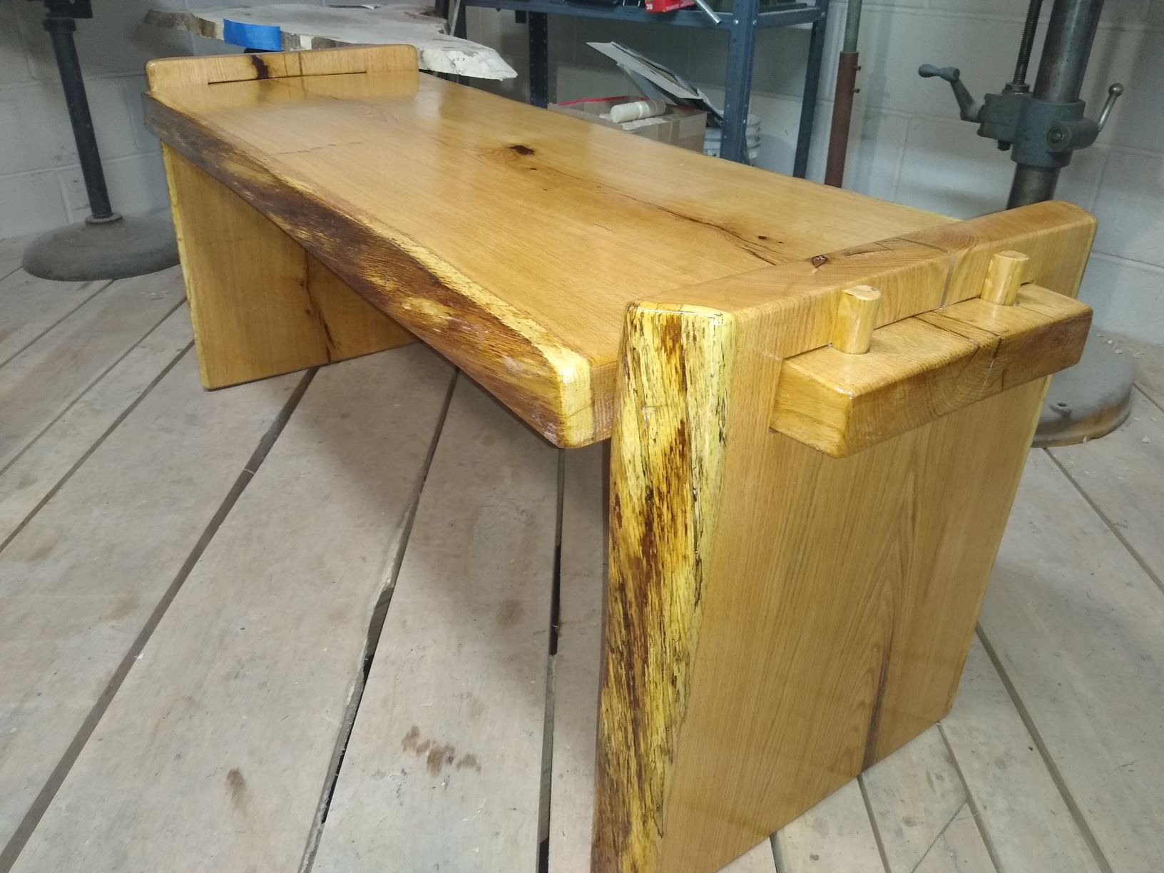 Through tenon table, Oak